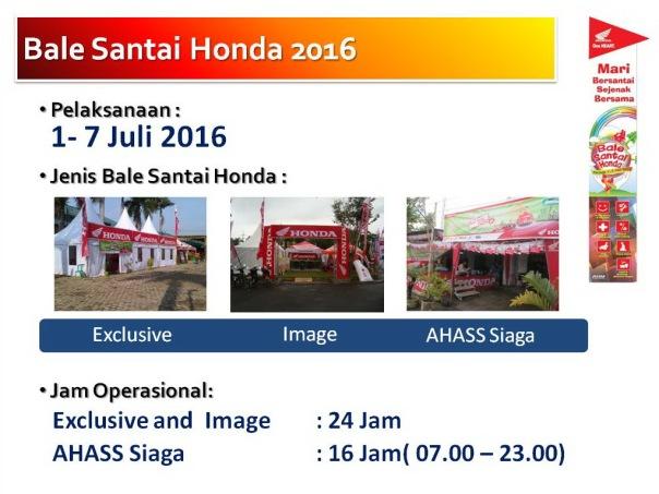3 Klasifikasi Balai Santai Honda