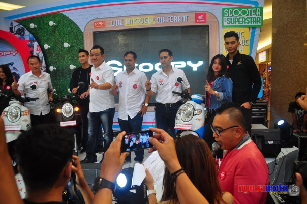 BOD PT MPM saat launching All New Honda Scoopy