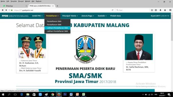 Cara Pendaftaran Online SMANELA 02 b