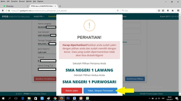 Cara Pendaftaran Online SMANELA 07
