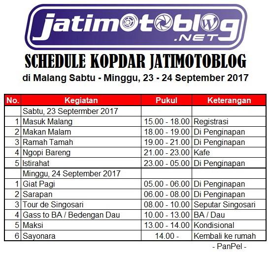Schedule Kopdar Jatimotoblog