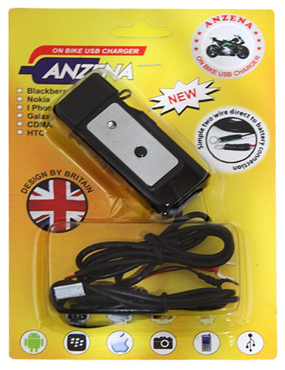 Charger Motor USB Anzena Waterproof
