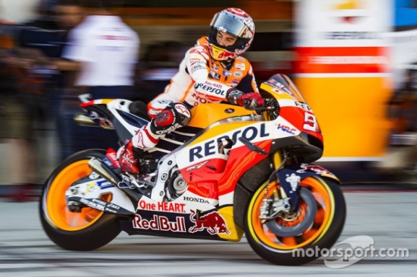 Marc Marquez balap di Aragon