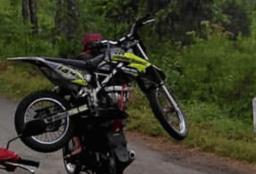 Motor mogok di Bromo_KLX